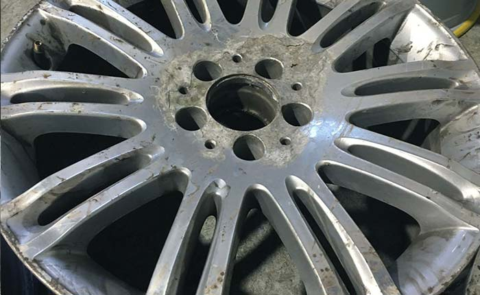 Example of our alloy wheel refurbishment